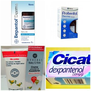 Várias pomadas à base de dexpantenol